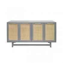 Macon Grey Lacquer Cabinet