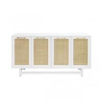 Macon White Lacquer Cabinet