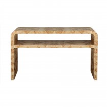 Marshall Burl Wood Console Table