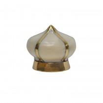 Miranda Brass & Cream Knob