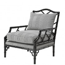 EICHHOLTZ MORGAN CHAIR DIXON BLK & WHITE