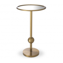 Narciso Antique Brass Side Table