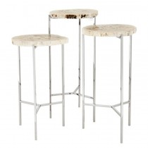 EICHHOLTZ NEWSON SIDE TABLE SET OF 3