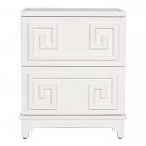 Worlds Away Pagoda White Bedside
