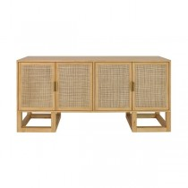 Worlds Away Patrick Cane & Pine Brass Cabinet