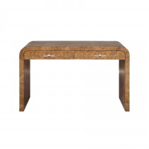 Petra Dark Burl Wood Desk