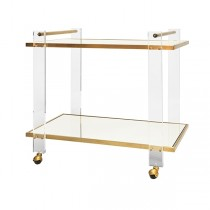 Pierce Acrylic & Brass Bar Cart