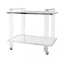 Pierce Acrylic & Nickel Bar Cart