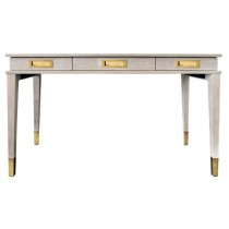 Plato Cerused Oak & Antique Brass Desk