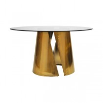 Portia Antique Brass Dining Table