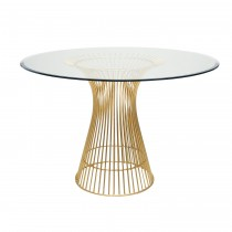 Powell Gold Leaf Large Dining Table