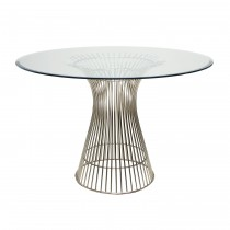 Powell Stainless Steel Dining Tabl
