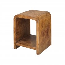 Putnam Dark Burl Wood Side Table