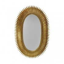 Rita Gold Leaf Starburst Mirror