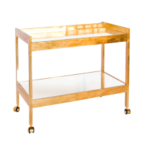 Worlds Away Roland Gold Bar Cart