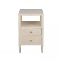 Roscoe Natural Grasscloth Side Table