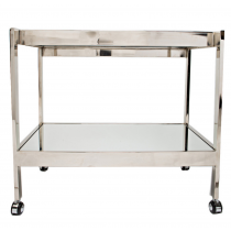 Worlds Away Roland Nickel Bar Cart