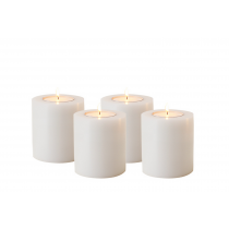 ARTIFICIAL CANDLE SET OF 4 / 7CM