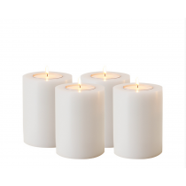 ARTIFICIAL CANDLE SET OF 4 / 9 CM