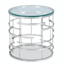 Viena Stainless Steel Side Table