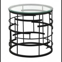 Viena Black Side Table