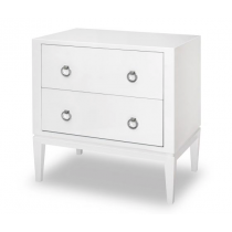 Verona White Bedside Table