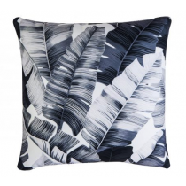 Tropical White & Black Pillow