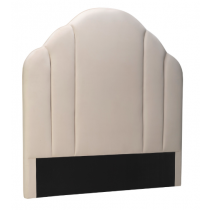 Roseberry Tan Beige Velvet Headboard