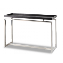 Malcom Black Ash & Stainless Steel Console Table
