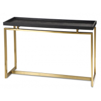 Malcom Black Ash & Brass Console Table