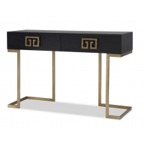 Nobbu Black Ash & Brass Console Table