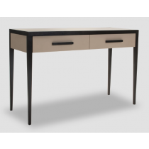 Liza Wenge Oak & Beige Leather Console Table