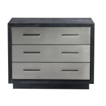 Camden Black Ash & Stainless Steel Chest