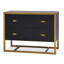Holman Black Ash & Brass Chest