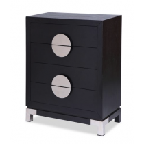 Otium Black Ash & Stainless Steel Chest