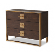 Ophir Dark Brown & Dark Brass Chest