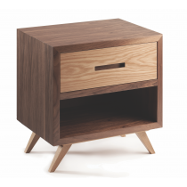Space 1-Drawer Bedside Table - Multiple Colours/Finishes