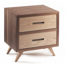 Space 2-Drawer Bedside Table - Multiple Colours/Finishes