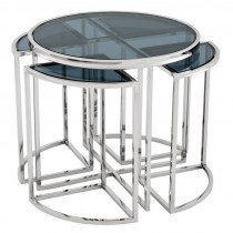 VICENZA SIDE TABLE S/STEEL
