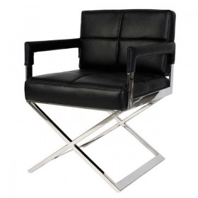 Cross Black Leather Look Desk Chair