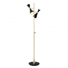 Cordero Brass & Black Floor Lamp