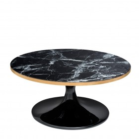 Parme Round Black Coffee Table