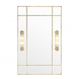 Beaumont Brass Mirror with Lights
