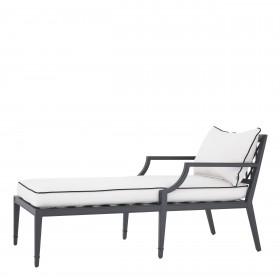 Bella Vista Black Outdoor Chaise Lounge