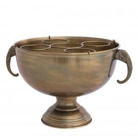 Maharaja Vintage Brass Champagne Cooler