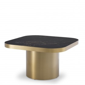 Proximity Brushed Brass Side Table