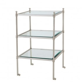 Aubrey Silver Plated Side Table