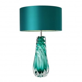 Barron Turquoise Nickel Table Lamp