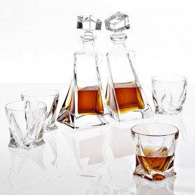 Sapphire Crystal Decanter Set of 5
