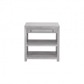 Garbo Grey Cerused Oak Bedside Table